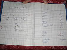 cahier d'élève