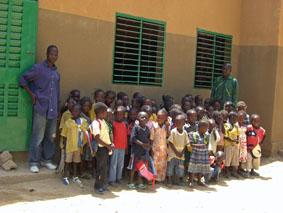 classe de Sidi avec Issaka