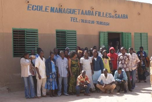 Les participants à la réunion du groupe d'animation pédagogique